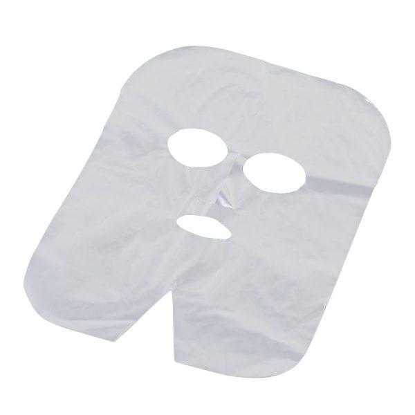 Polietileninė kaukė kosmetologinėms veido procedūroms, 100 vnt. KAINA 7 eur