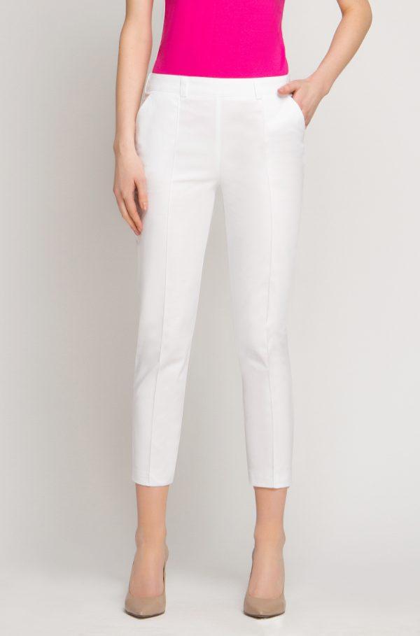 Spodnie kosmetyczne Cygaretki Vena - Białe przód
